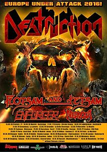 Destruction - Fette Tour mit Flotsam&Jetsam und Enforcer.